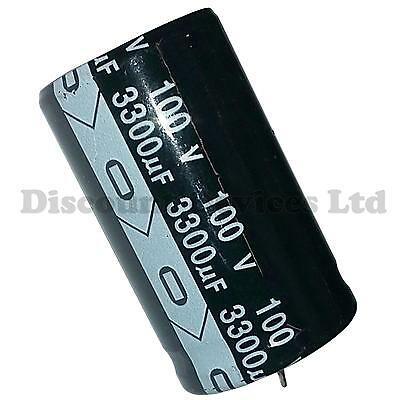 33uF 100V Radial Electrolytic Capacitor 105C