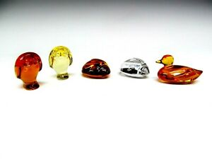 Baccarat French Turtle, Duck & Barn Owl color & Clear ...