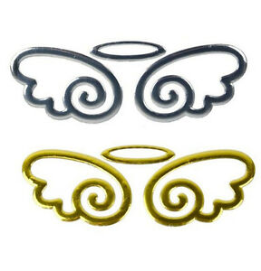 Details about New Cute Angel Fairy Wings 3D Sticker Auto Car Logo Emblem  Badge Decal /silver