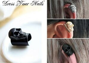 Skull Ear Bone Ear Cuff Clip Earring Goth Punk Fashion Jewellery UK