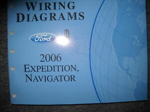 2006 Lincoln Navigator Ford Expedition Electrical Wiring Diagrams Manual Ewd Ebay