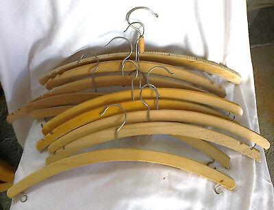 10 Holz-hosenbügel-kleiderbügel-hemdenkleiderbügel-blusenbügel, Vollholz, Natur