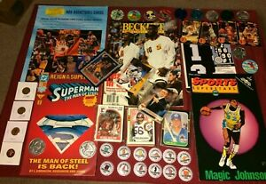 Junk-Drawer-Lot-Collectibles-Basketball-Superman-Misc-10-22-1P
