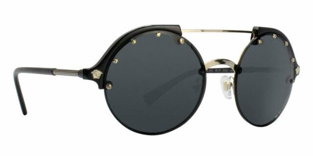 f1d03c12fb Original Versace Ve 4337 Gb1 87 Black Gold Frame Grey Lens Sunglasses 53