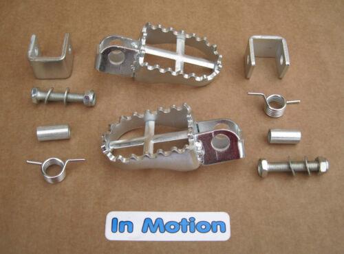 Universal Footrest Kit with Weld on Brackets Twinshock Bultaco Montesa Ossa SWM