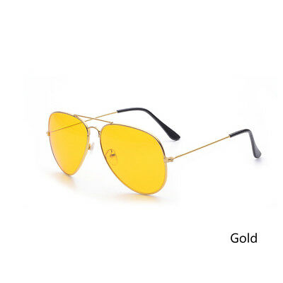 Men Driving Night Vision Glasses Women Sunglasses Yellow Lens UV400 Aviator