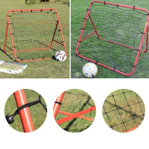 Pro Rebounder Net Football Training Adjustable Kickback Soccer Target Goal Kids