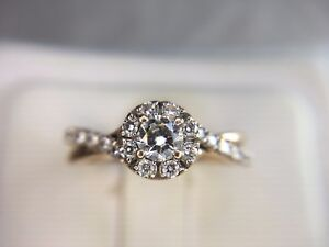 Estate-10k-Rose-Gold-Round-Brilliant-Diamond-Halo-By-Pass-Engagement-Ring