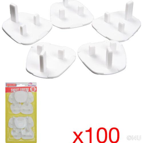 10 X 10PC Enchufe Cubierta Protector de seguridad eléctrica cubre Niño Bebé 100
