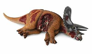 Triceratops-liegend-tot-18-cm-Dinosaurier-Collecta-88528