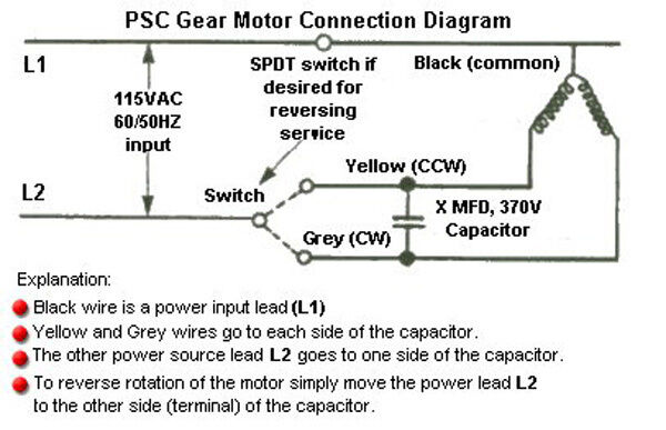 Gear Motor Wiring Diagram