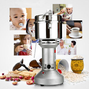 750g 3KW Electric Herb Grain Mill Grinder Household Cereal Flour Powder Grinding