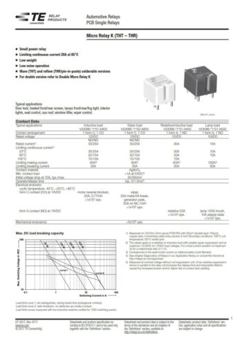 TE Connectivity V23086-C1001-A402 Relais 12V 1xEIN 30A TYCO 0-1393280-5 860606