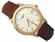 Longines Flagship 18ct Rose Gold Gents Watch - Vintage Circa 1990