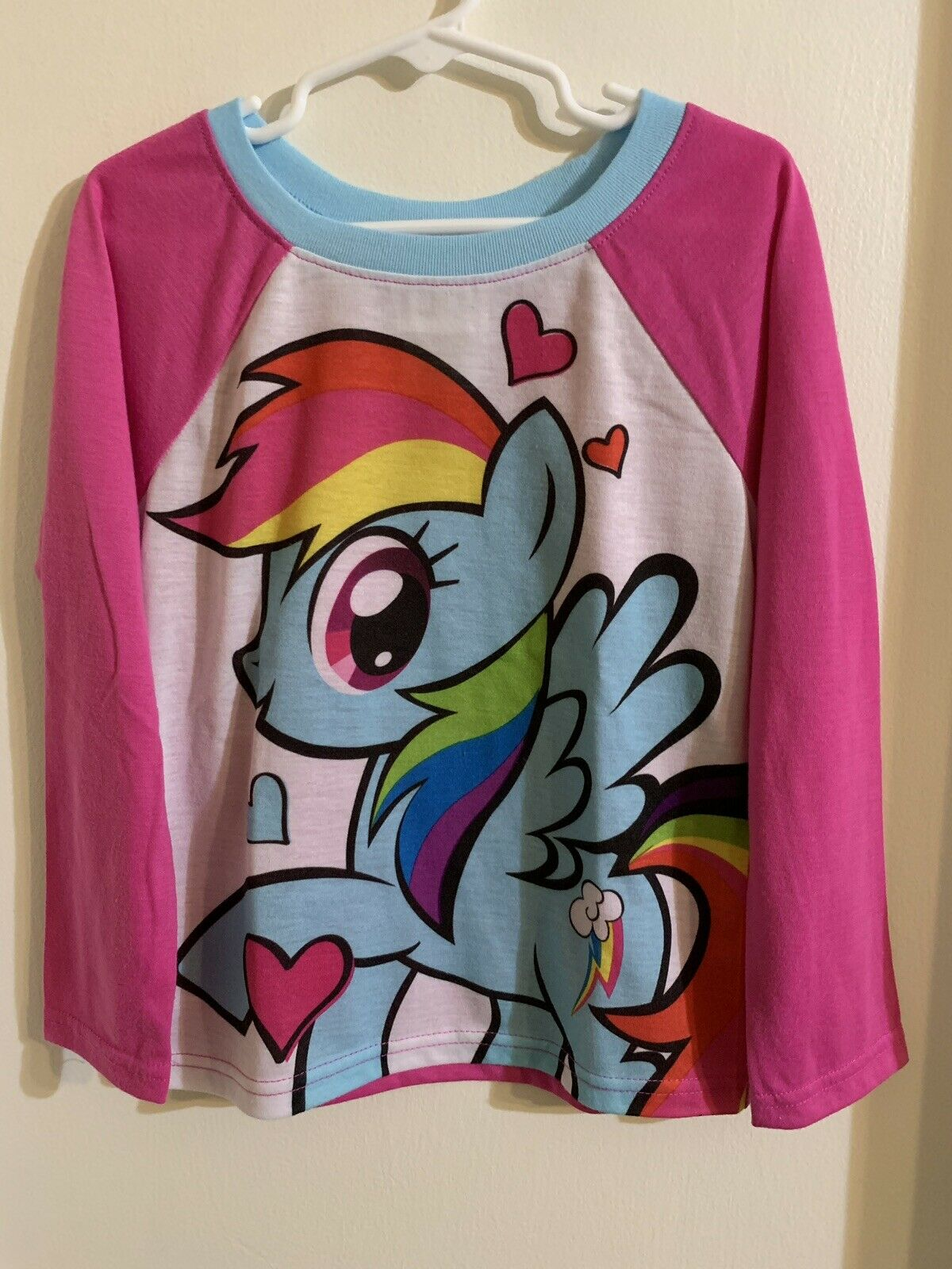 NEW My Little Pony The Movie Rainbow 2pcs Pajamas Shirt Outfit Girls 4 Toddler