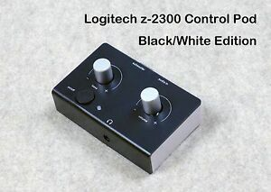 Logitech-Z-2300-Computer-Speakers-B-W-Replacement-Control-Pod-Black-Over-White