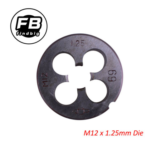 New HSS M12 x 1.25mm Pitch Thread Metric Right Hand Die US Free Shipping
