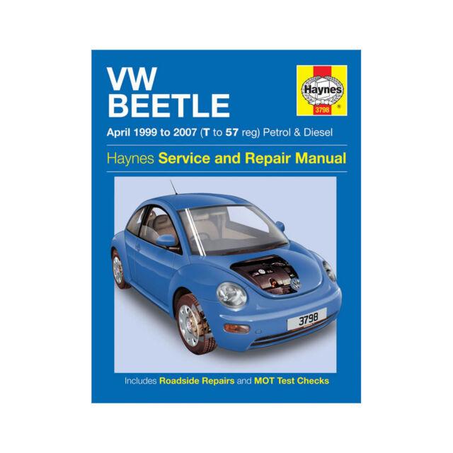 vw beetle april 1999 to 2007 haynes manual petrol diesel ebay rh ebay co uk 1998 VW Beetle 1999 VW Beetle Problems