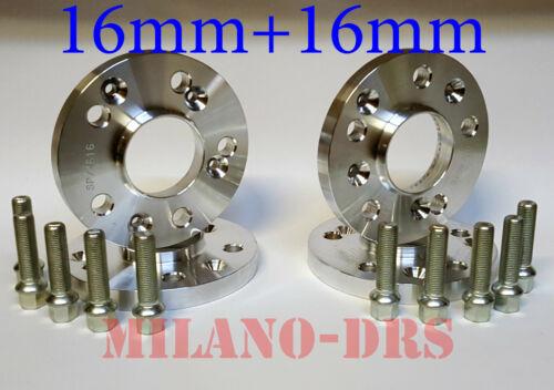 S3 8P 4 DISTANZIALI RUOTA 16+16mm AUDI A3 2003 // 2012 Bullone CONICO