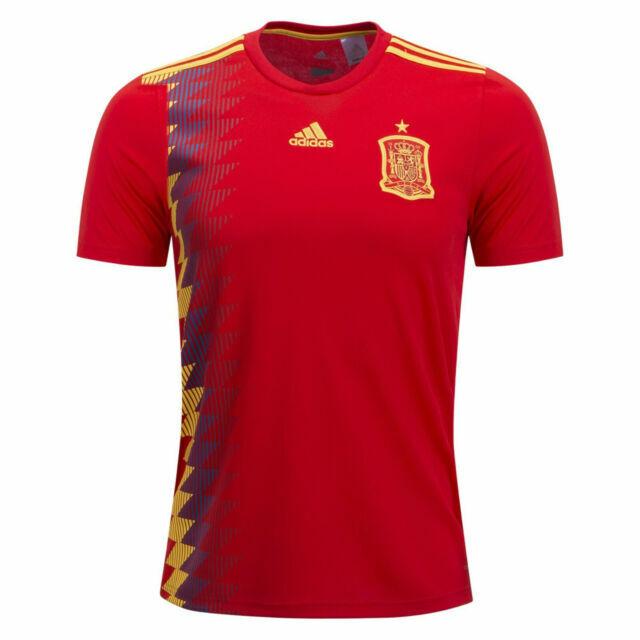 adidas Spain Men XL Home Soccer Jersey 2018 Espana National Team ...