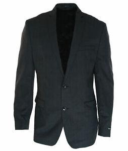 Bar-III-Men-039-s-Wool-Slim-Fit-Two-Button-Suit-Jacket-Blazer-Charcoal-Size-44-Long