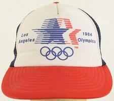 Los Angeles 1984 Olympics Red White Blue Mesh Trucker Hat Cap Snapback Strap