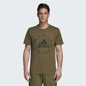 BRAND-NEW-40-adidas-Men-039-s-Sport-ID-Tee-RAW-KHAKI-DQ1464