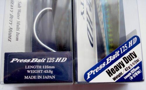 DUO Press Bait 125HD Saltwater Fishing Lure,Jig Minnow,Hard Bait,Tuna,Bonito