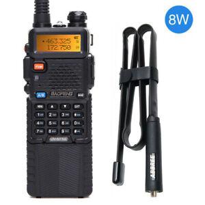 Baofeng-uv-5r-8w-3800mah-Dual-Band-U-VHF-Zwei-Weg-Radio-amp-28-3-034-Taktische-Antenne