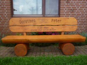 Holzbank-Rentner-Geschenk-Terrassenbank-Sitzbank-Hochzeizsgeschenk-Gartenbank