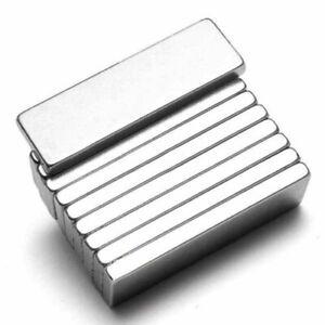 10pcs-Puissant-N52-Aimant-Neodyme-Rectangulaire-Magnet-Bloc-Magnetique-25x10x3mm