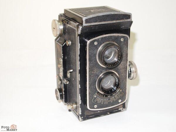 6x6 Tlr Appareil Photo Foth Foth-flex Objectif Anastigmat 1:3,5 F=75mm Remise GéNéRale Sur La Vente 50-70%
