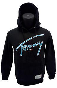 b495601212b0 Das Bild wird geladen Tommy-Hilfiger-Hoodie-Pullover-Kapuzenpullover -Signature-Schwarz-Gr-