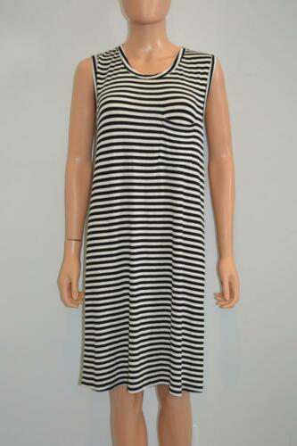 Zimmerman Black/Beige Striped Sleeveless Dress, Sz