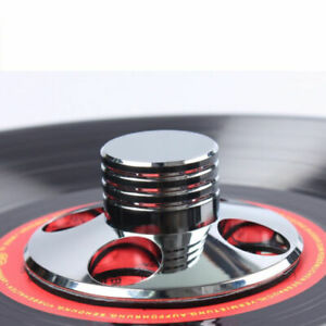 LP-Vinyl-Turntable-Disc-Stabilizer-Record-Weight-Silver-HiFi-Metal-Audio-Parts