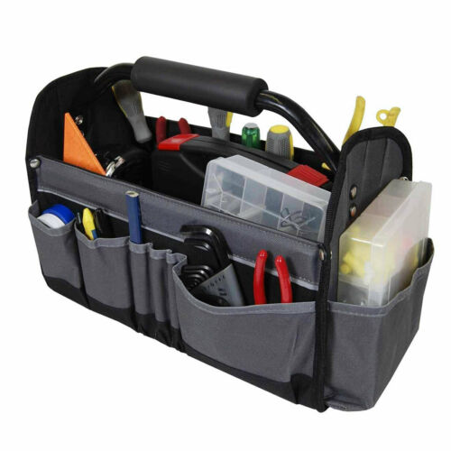Tool Tote Bag Open-Top Electricians Tool Box Garden Work Hard 14-Multi Pockets