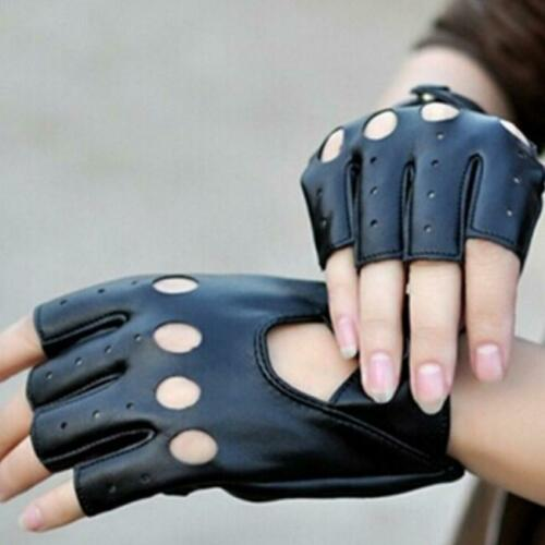 Women PU Leather Half Finger Driving Gloves Fingerless Gloves  YD