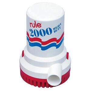 Rule 2000 GPH Bilgepumpe 12V Rule 10