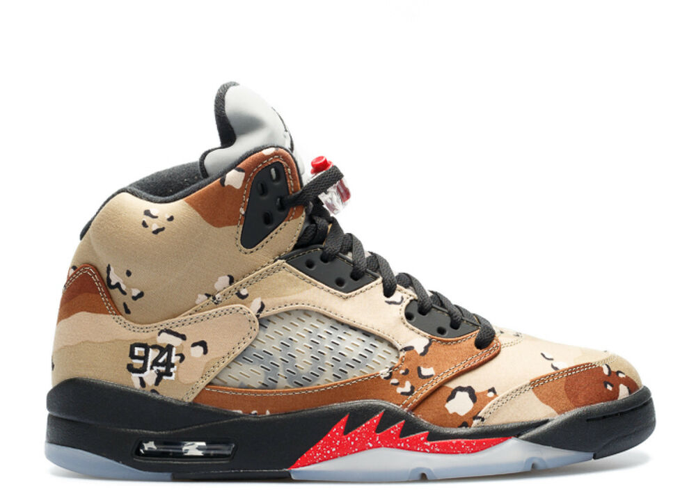Nike AIR JORDAN 5 RETRO SUPREME 6 7 8 9 10 11 12 Camo Brown Max 98 uptempo aj5-