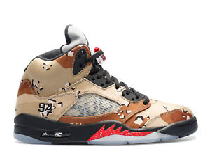 on sale a112c 7e419 Details about Nike AIR JORDAN 5 RETRO SUPREME 6 7 8 9 10 11 12 CAMO BROWN  max 98 uptempo aj5