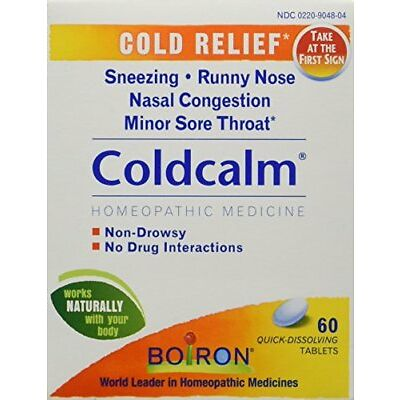 Boiron Coldcalm Natural Homeopathic Tablets 60 Each