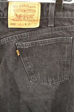 Vtg. Levis 555 Orange Tab Black Relaxed Fit Straight Leg 34 x 30 100% Cotton USA