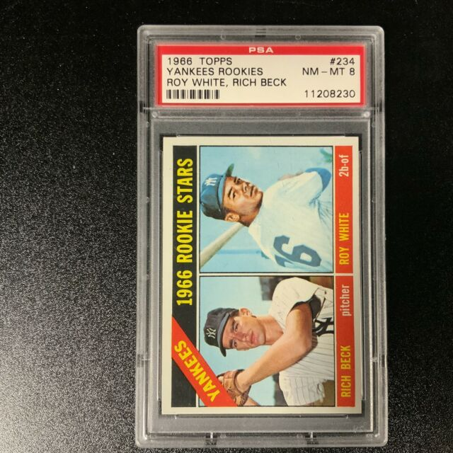 1966 Topps #234 Roy White RC Rookie Yankees PSA 8 NM-MT