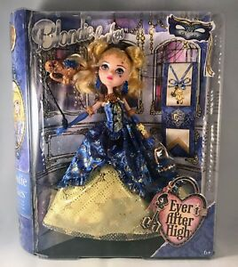 Ever After High Thronecoming Blondie Lockes Replacement Dress Gown Blue Yellow