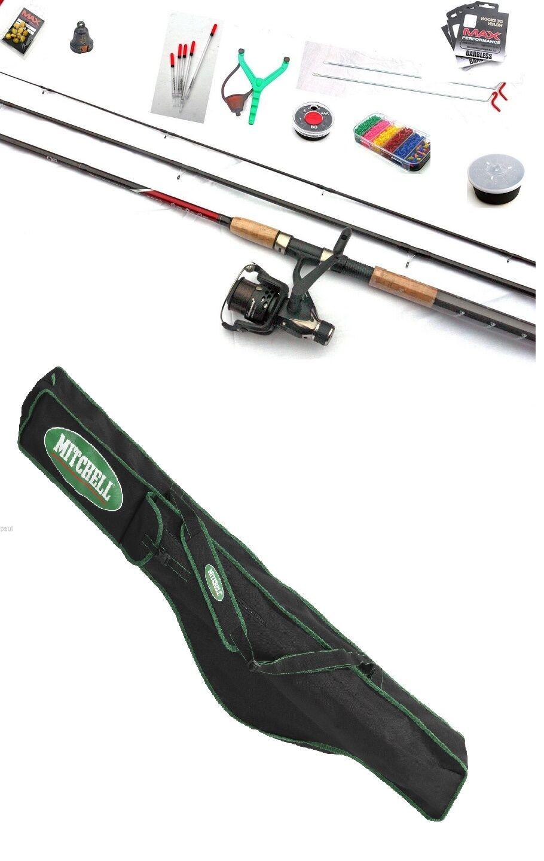 Shakespeare Float Fishing Set Kit Rod Reel Hooks Floats Catapult Bait Box + Bag