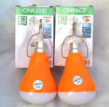 Combo 2 Pieces 18W Watt 40 LED SMD Rechargeable Emergency Light Lamp Bulb AC DC