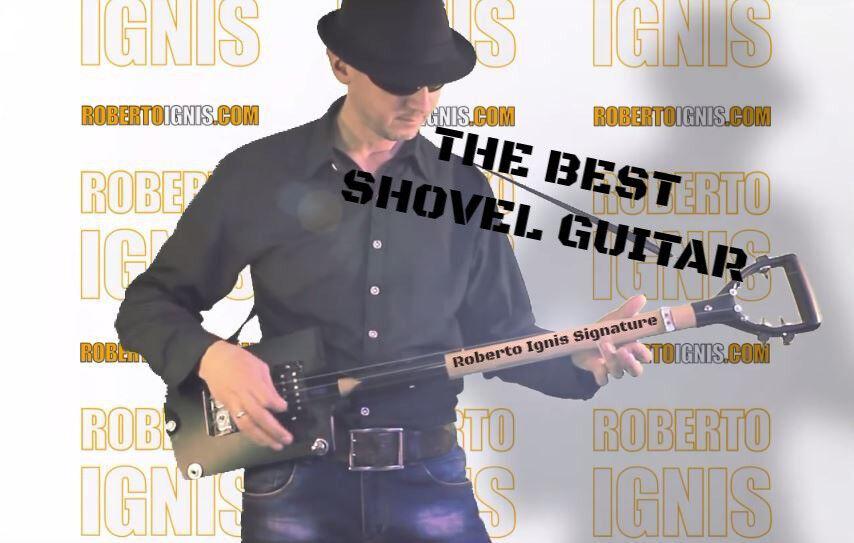 The Best Shovel Guitar - - - Cigar Box - Roberto Ignis Signature    Free Shipping  varios tamaños