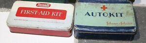 3 Vintage First Aid Kits - Rexall , Swift Laboratories , Auto Kit
