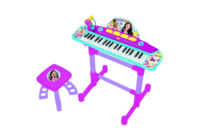 SOY LUNA - Piano con gambe, microfono e Sgabello - tastiera con effetti sonori