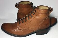 Frye 77335 Carson Lace Up Brown Leather Work Boots Ankle Women's Size 7.5